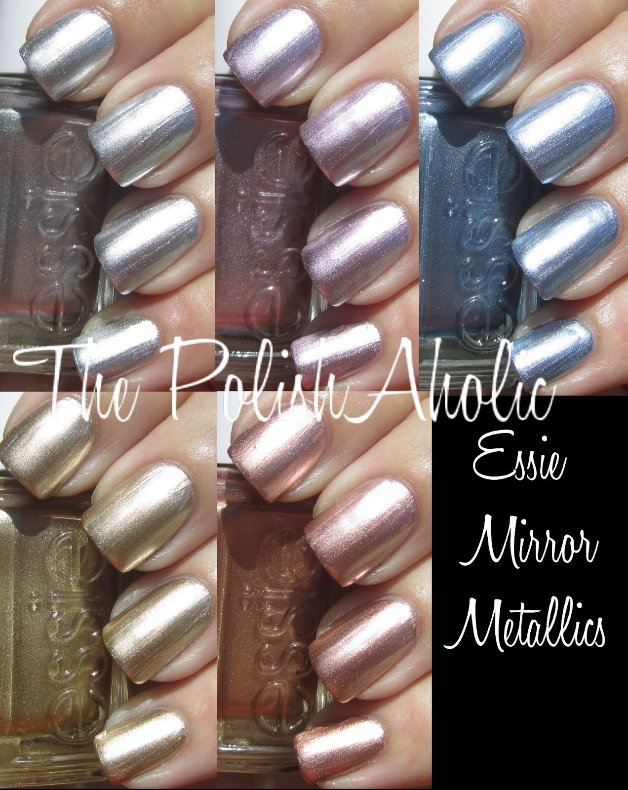 Collection completed! Essie Mirror Metallics Collection | Nails ...