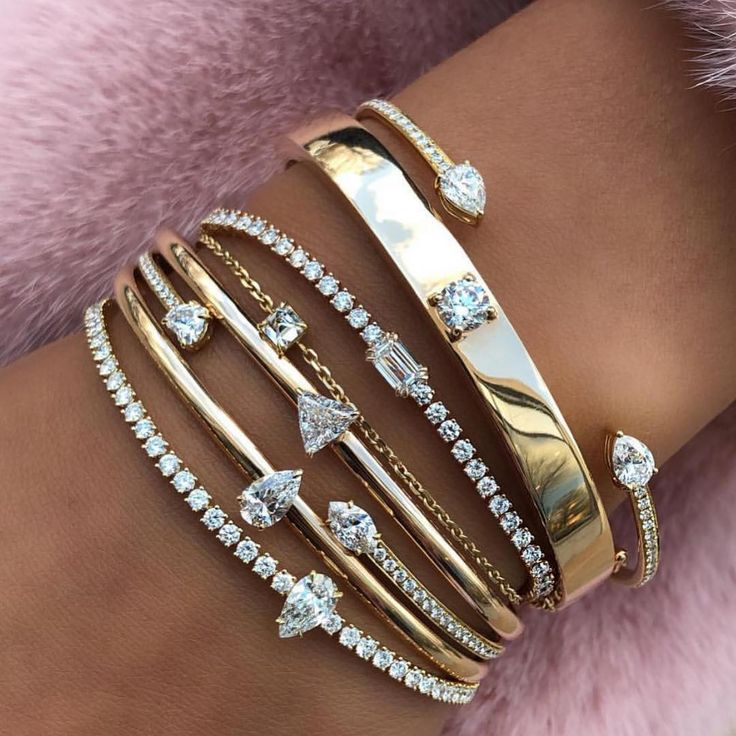 "Anita Ko on Instagram: ""Every year (or month) add a new bracelet to stack ��� #anitako #bracelets � @londonjewelers"""