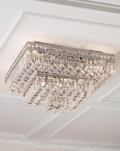 -4AFU   Eight-Light Crystal Flush-Mount Ceiling Fixture Five-Light Crystal Flush-Mount Ceiling Fixture