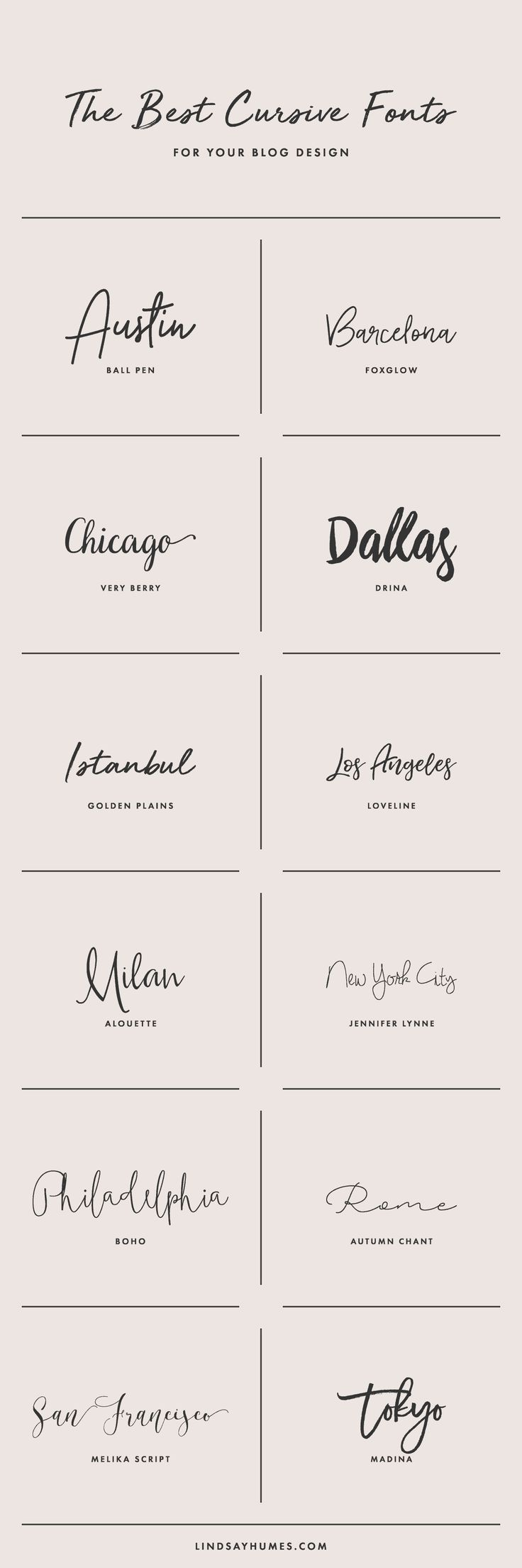 How to Use Cursive Fonts in Your Blog Design #filmposterdesign