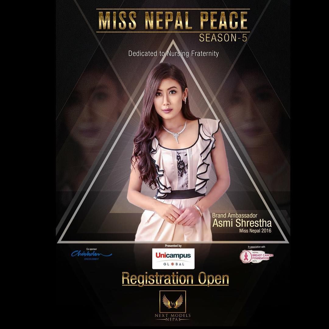 Asmi Shrestha – The new Brand Ambassador of Miss Nepal Peace 2018