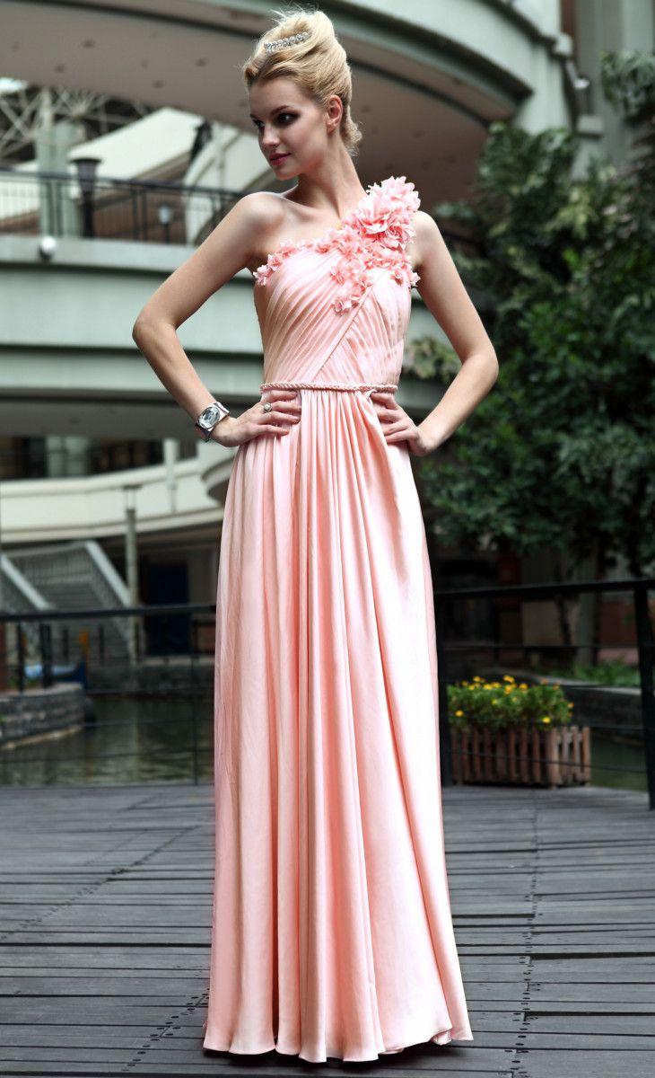 Pink One Shoulder Prom Dress | Fashion | Pinterest