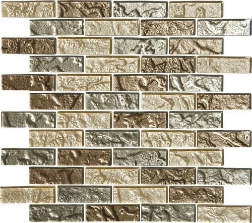 Mohawk Grand Terrace Amber Medley Brick Joint 12 X Gl Mosaic Tile Actual