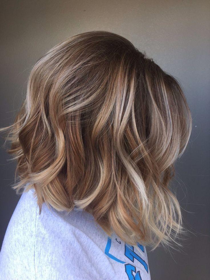 Балаяж на русые волосы короткие фото
