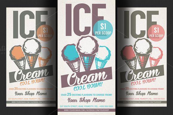 ice cream shop promotion flyer creativework247 flyer templates