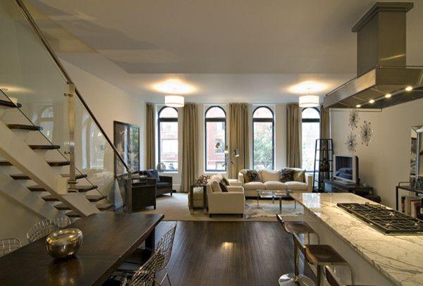 condo - modern living room