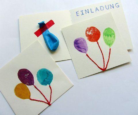 sch ne luftballon einladungen selbst gemacht kindergeburtstag pinterest birthdays. Black Bedroom Furniture Sets. Home Design Ideas