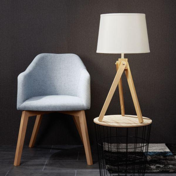 mylight Tischleuchte Oakland Textil/Holz Tischleuchten Pinterest - wohnzimmer schwarz weiss holz