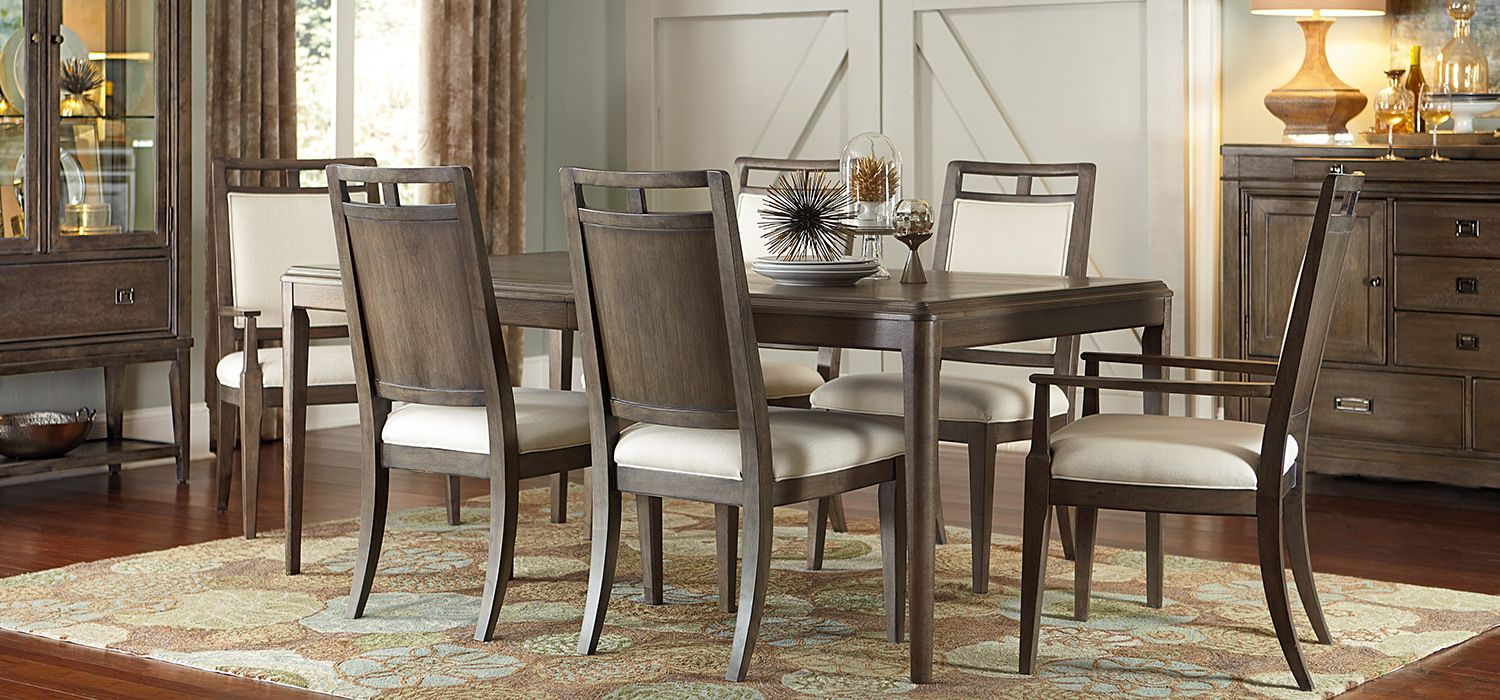 Kincaid Furniture Park Studio Collection Dining Room Interiors Casual Dining Room Tables Rectangular Dining Room Set