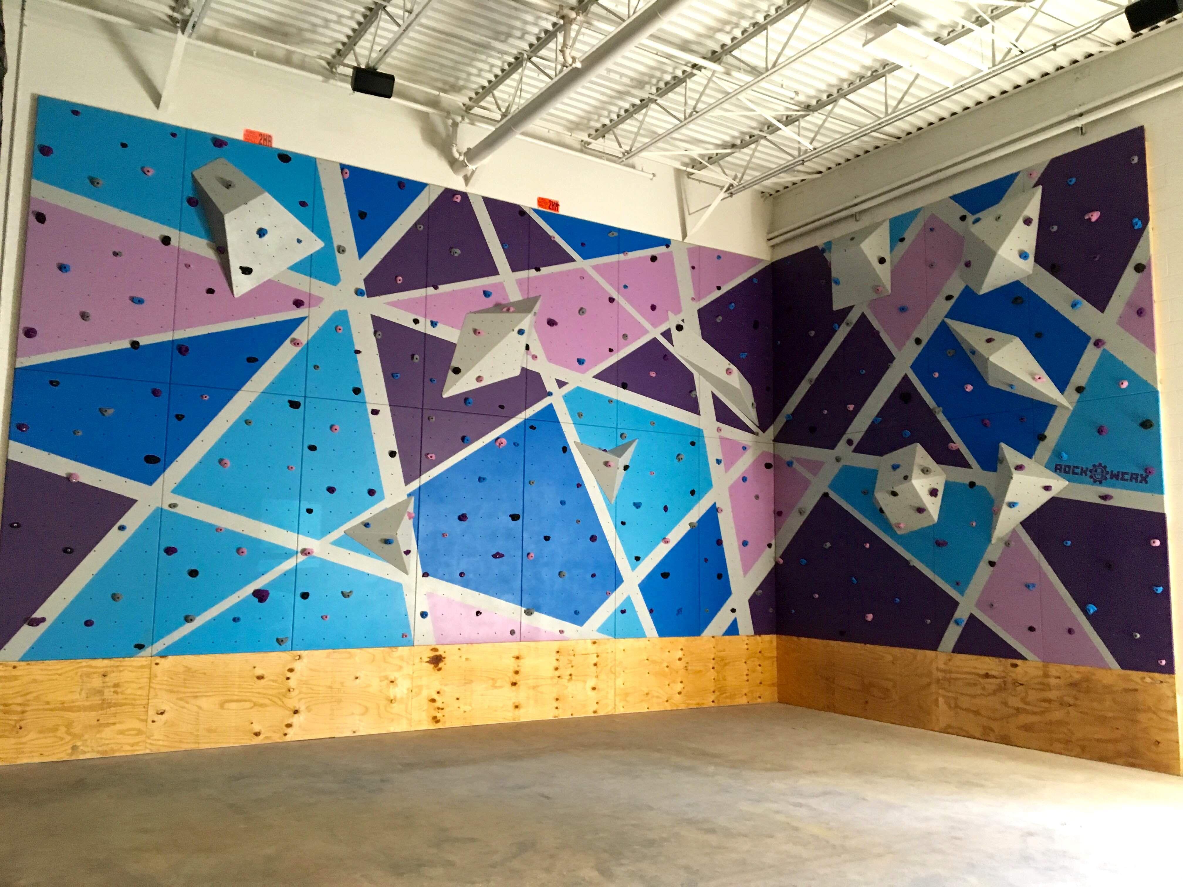 Rockwerx Gym Rock Lite Modular Panels Altitude Fitness In Tampa Fl Climb Climbstronger Custom Rock Climbing Wall Climbing Wall Wall