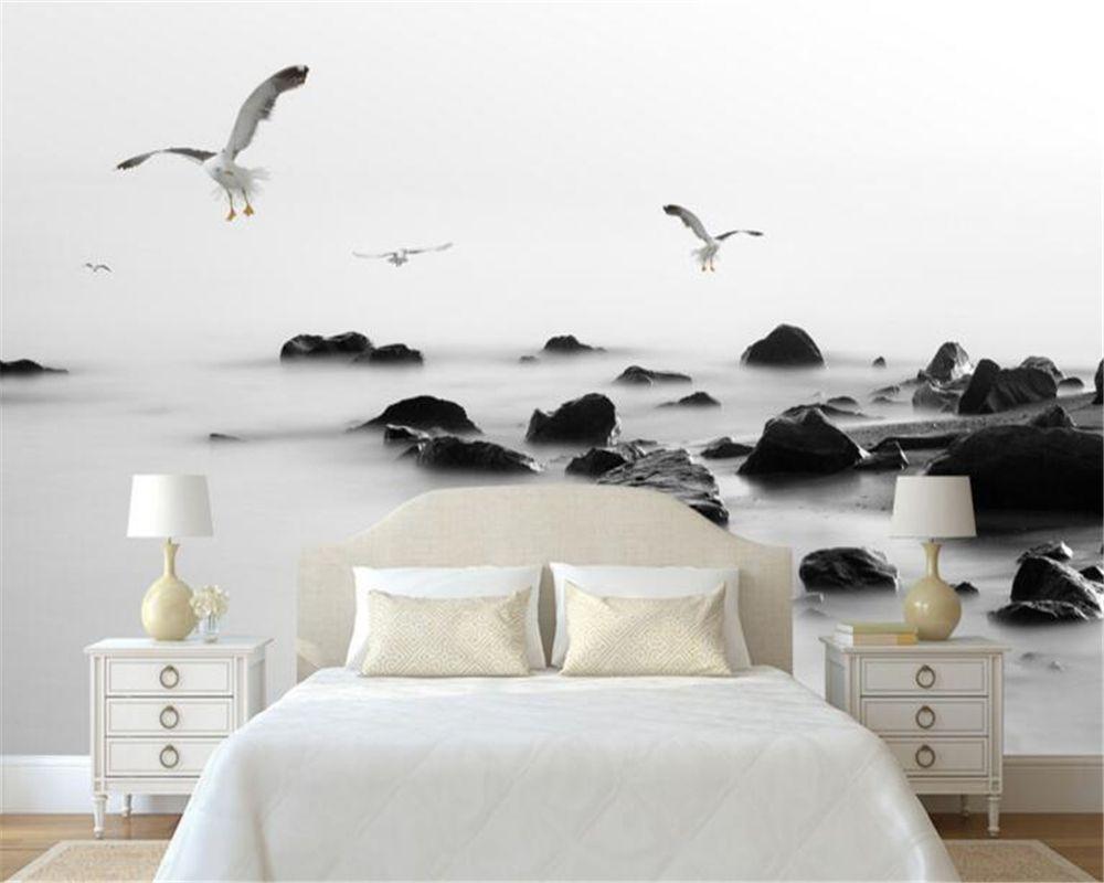 Beibehang in bianco e nero gabbiano sfondo 3d wallpaper foto ...
