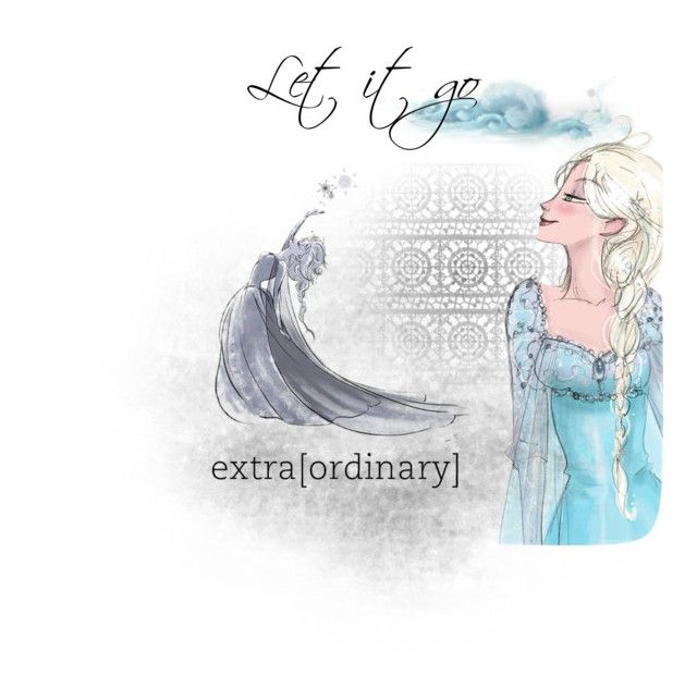 """Let it go"" by rosycheeksandredlipstick ❤ liked on Polyvore featuring art"