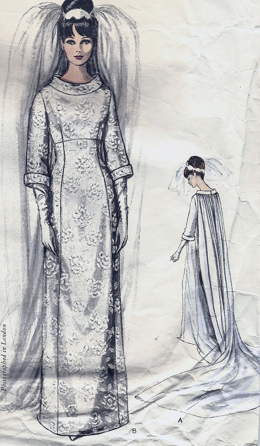 Vogue Couturier Design 1347 - John Cavanagh--- The illustration of my mother's wedding gown.  Her gown was silk crepe.