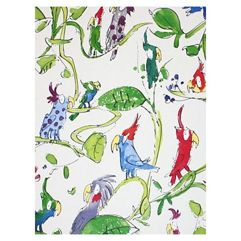 Buy Osborne & Little By Quentin Blake Cockatoos Wallpaper, Multi, W6060/01…