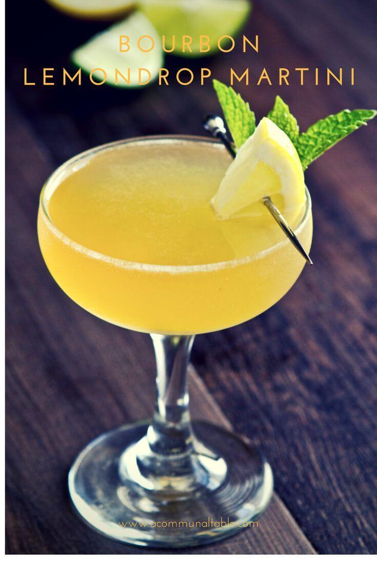 A simple bourbon lemon drop martini recipe made with homemade sour ...
