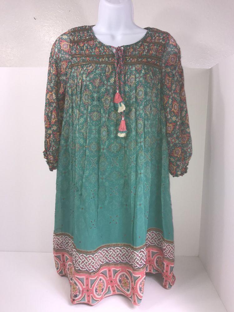 df86be44a5f7 Tanvi Kedia Anthropologie Glimmered Ankita Dress XS Beaded Sequins  #TanviKedia #SwingDressShiftFREEFLOWING