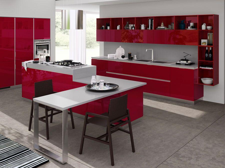 30 Modelli di Cucine Rosse dal Design Moderno | Cucine ...