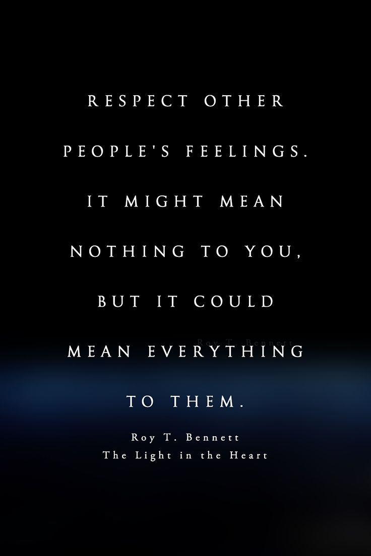 what is the meaning of respect for others