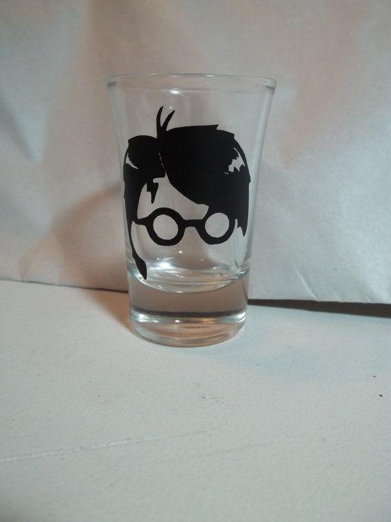 Harry Potter  Shot Glass by TheCraftyGeek86 on Etsy, $6.00