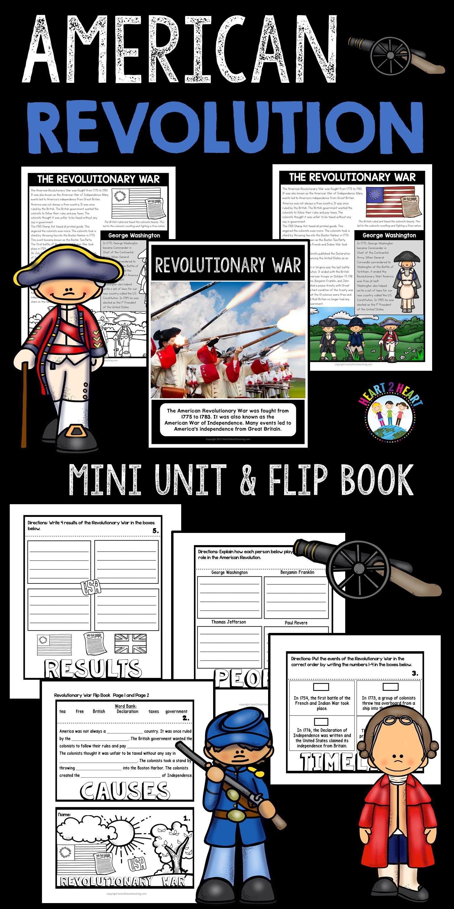 Revolutionary War Activities A Mini Unit And Flip Book