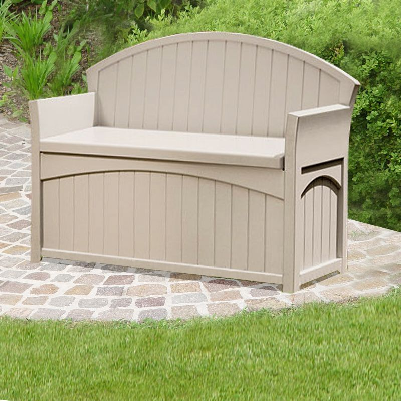 Patio Garden Storage Bench W134cm Garden storage bench