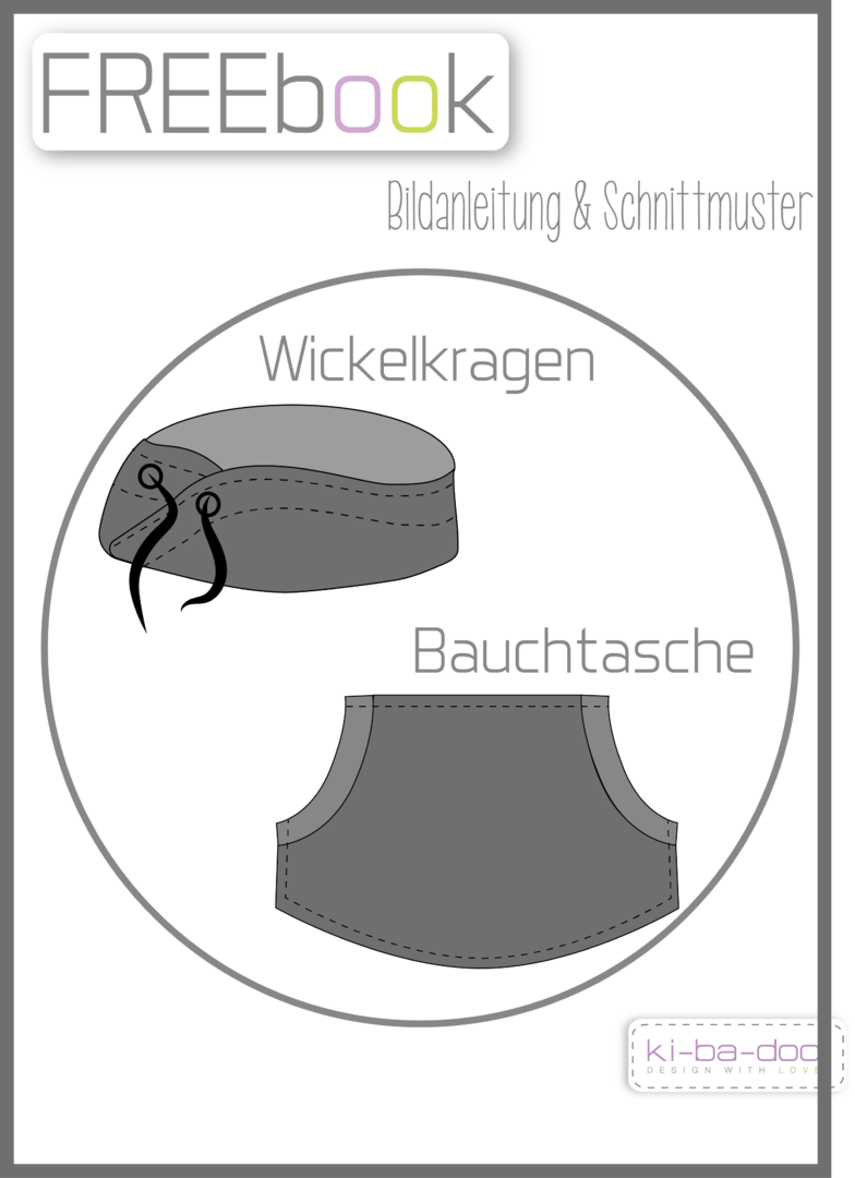 Ergänzung Wickelkragen/Bauchtasche - Schnittmuster als Pdf Datei ...
