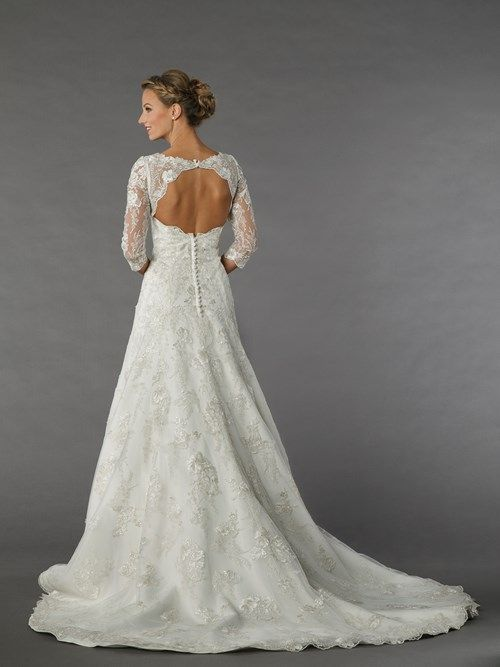Alita Graham Scoop A-Line Gown in Lace   KleinfeldBridal.com   Baby ...