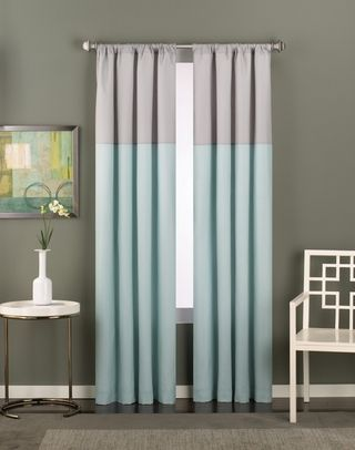 Color Block Modern Curtain Panel 12 99 Color Block Curtains