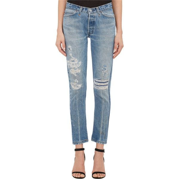 skinny distressed jeans - Blue Re/Done MlK7CHKrr0