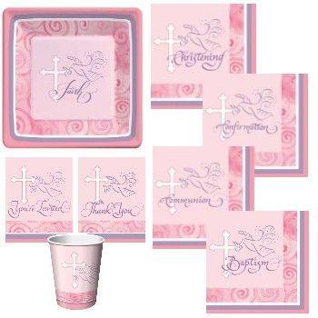 Baptism plates & napkins   Ailie Party!   Pinterest