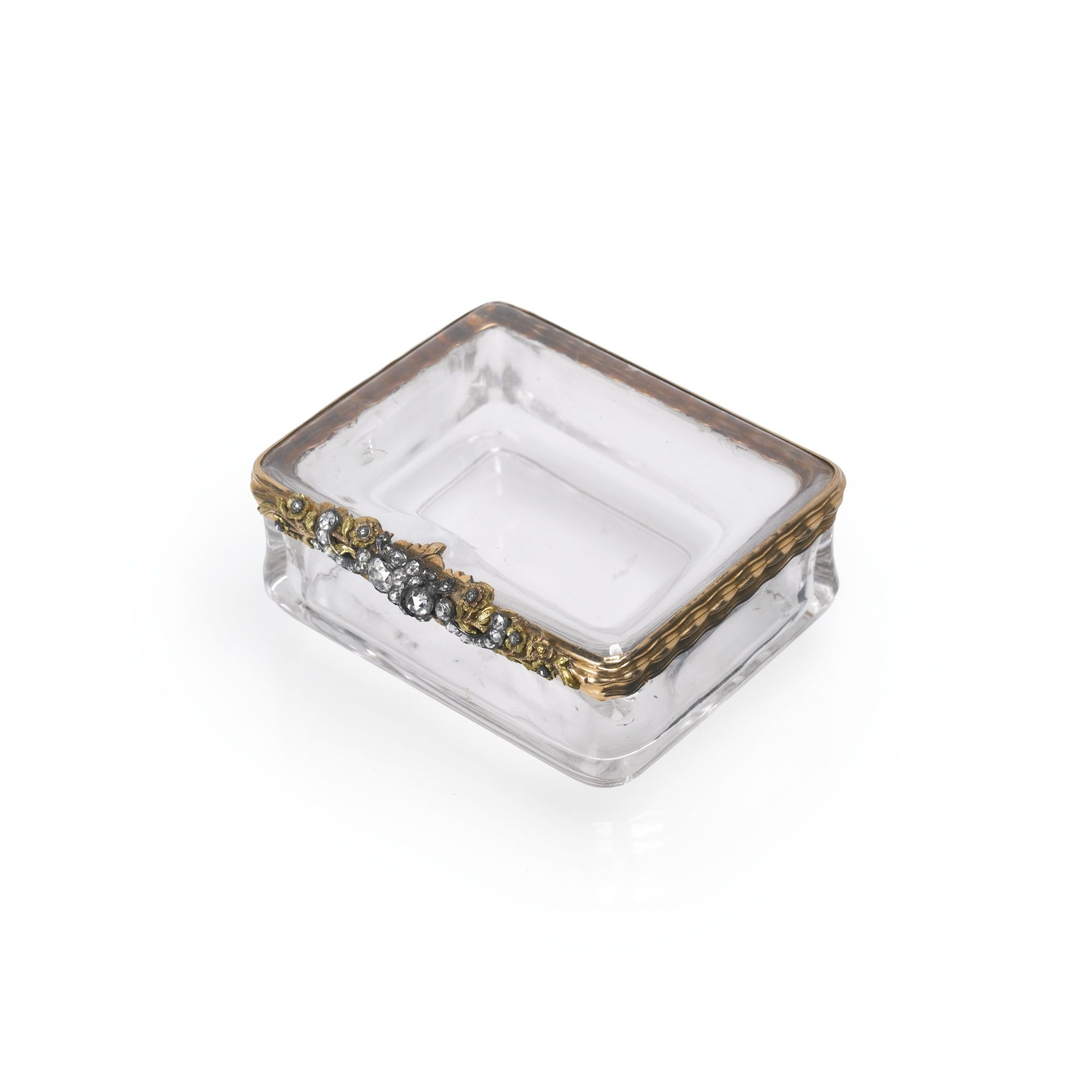 A gold, rock crystal and diamond-set snuff box, Probably German, circa 1750 | Lot | Sotheby's