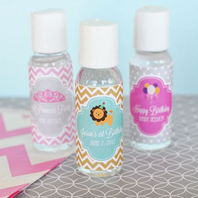 Personalized Mod Kid S Birthday Hand Sanitizer Party Favors For