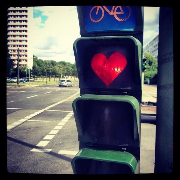 Lovely traffic lights in #Berlin (Unknown)