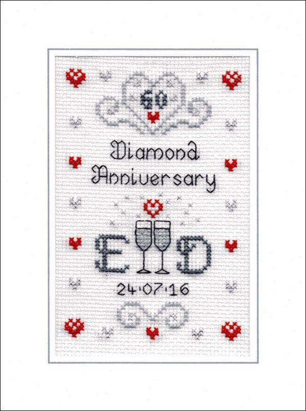 Diamond Wedding Anniversary Cross Sch Card Kit
