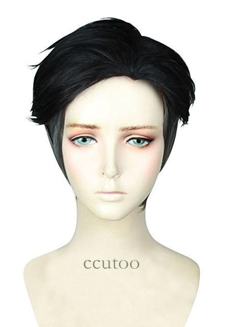 """ccutoo 12"""" FF15 Final Fantasy XV Prompto Argentum Short Synthetic Fluffy Layered Cosplay Wig Heat Resistance Fiber"""