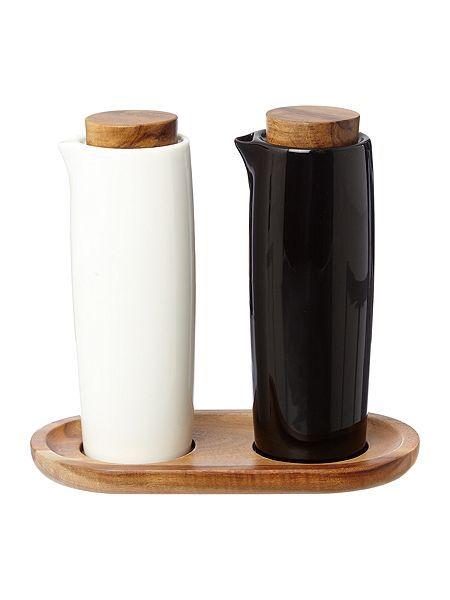 ceramic oil and vinegar set on kitchen organization oil and vinegar id=29707