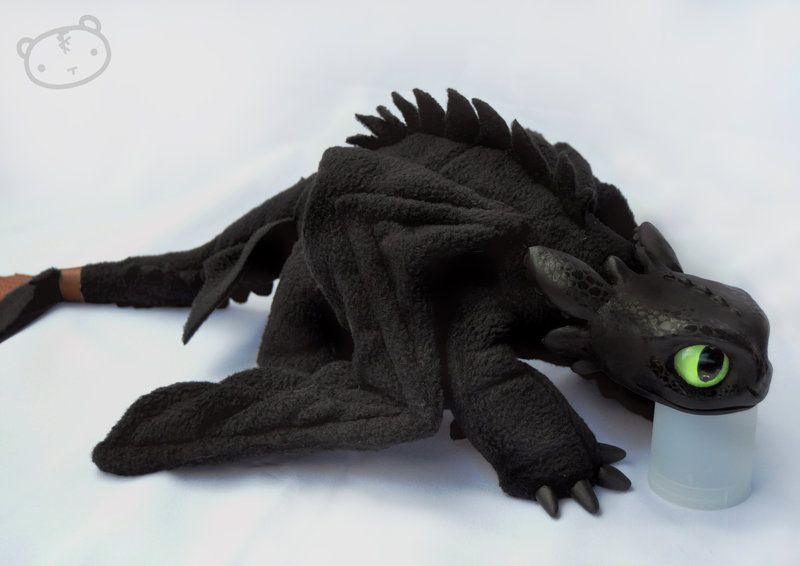 Toothless the dragon sewing pattern my little toothless - Peluche furie nocturne ...