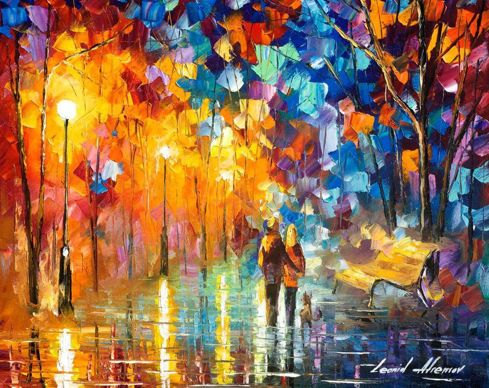 Truth of togetherness - oil painting by Afremov by Leonidafremov on DeviantArt