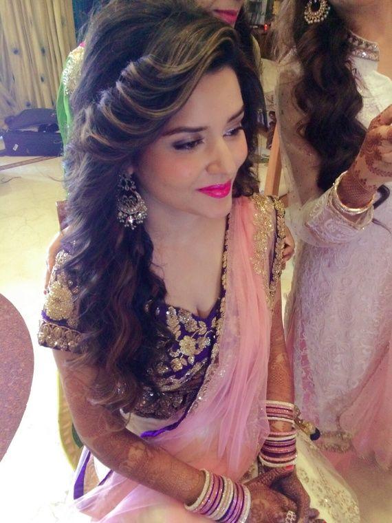 Photo By Mumbaimakeupartist By Kisha Bridal Makeup Front Hair Styles Wedding Hairstyles For Long Hair Bridal Hair Buns