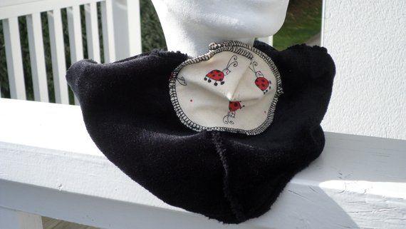 5732ffd7de40 Snood écharpe tube tour du cou foulard  enfant fille coccinelles polaire  doudou noir nouvelle collection automne hiver 2018 créateur lineva