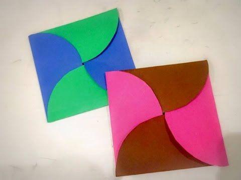 Diy Easy Paper Envelope Origami Birthday Card For Kids