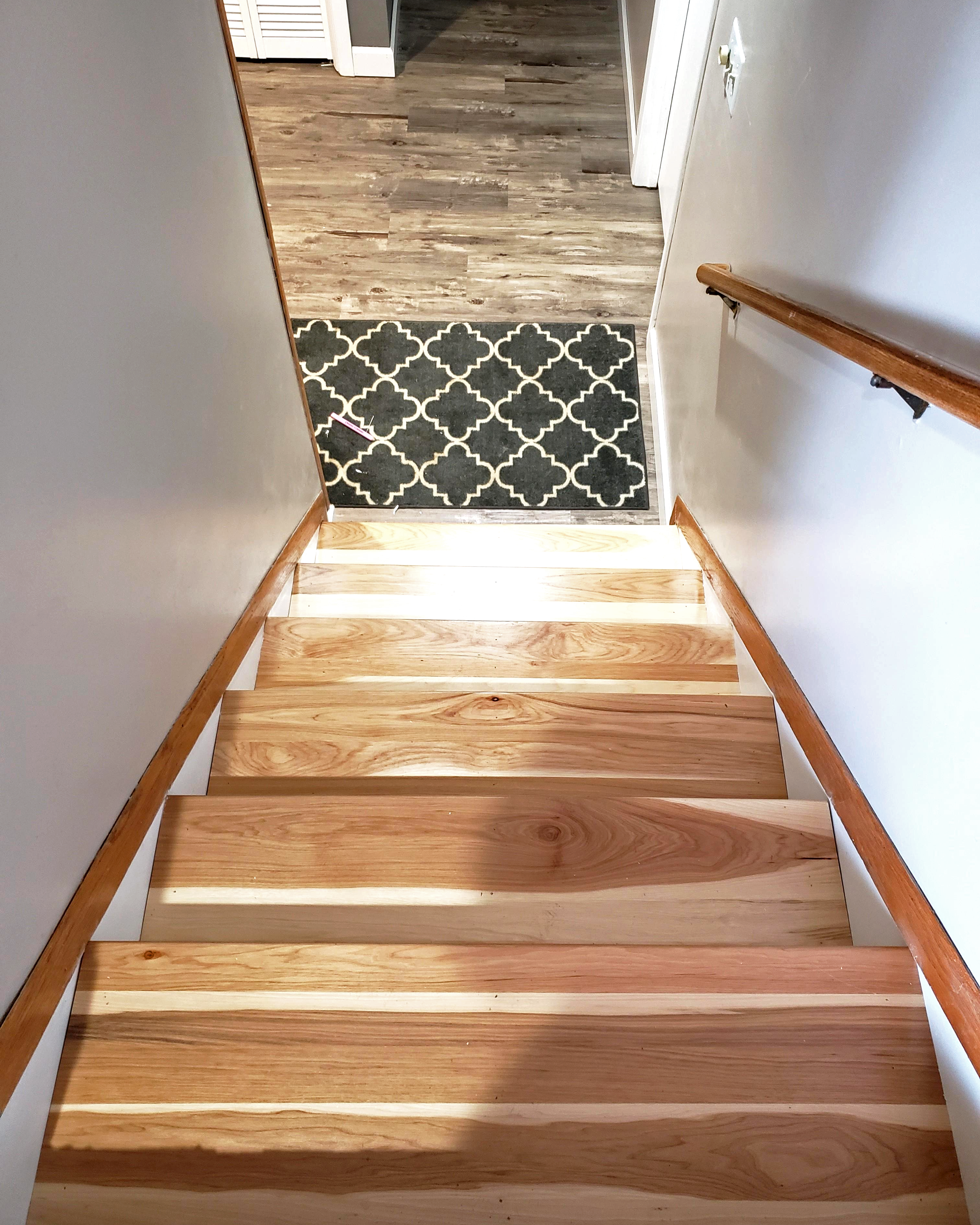 Character Hickory Stair Tread In 2020 Stairs Stair Treads Wood | Prefinished Hickory Stair Treads And Risers | Stair Parts | Hickory Natural | Stairtek | Natural Prefinished | Oak Stair Nosing