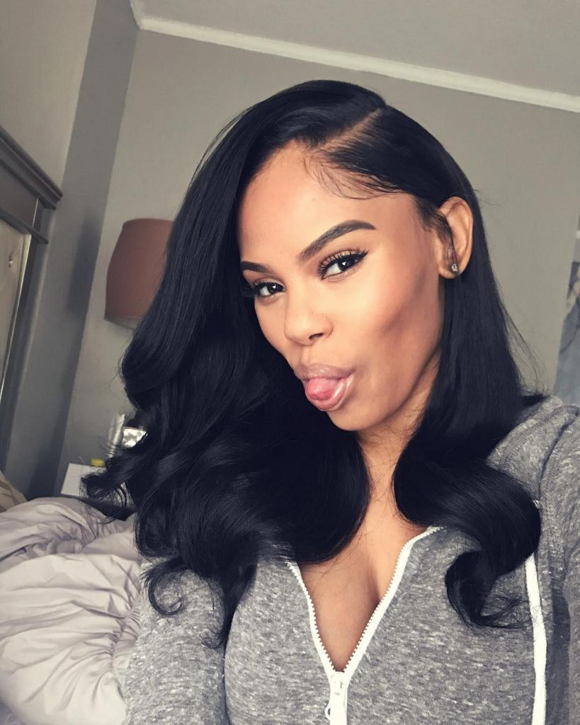 Black Hairstyles Long Long - photos of side part long ...
