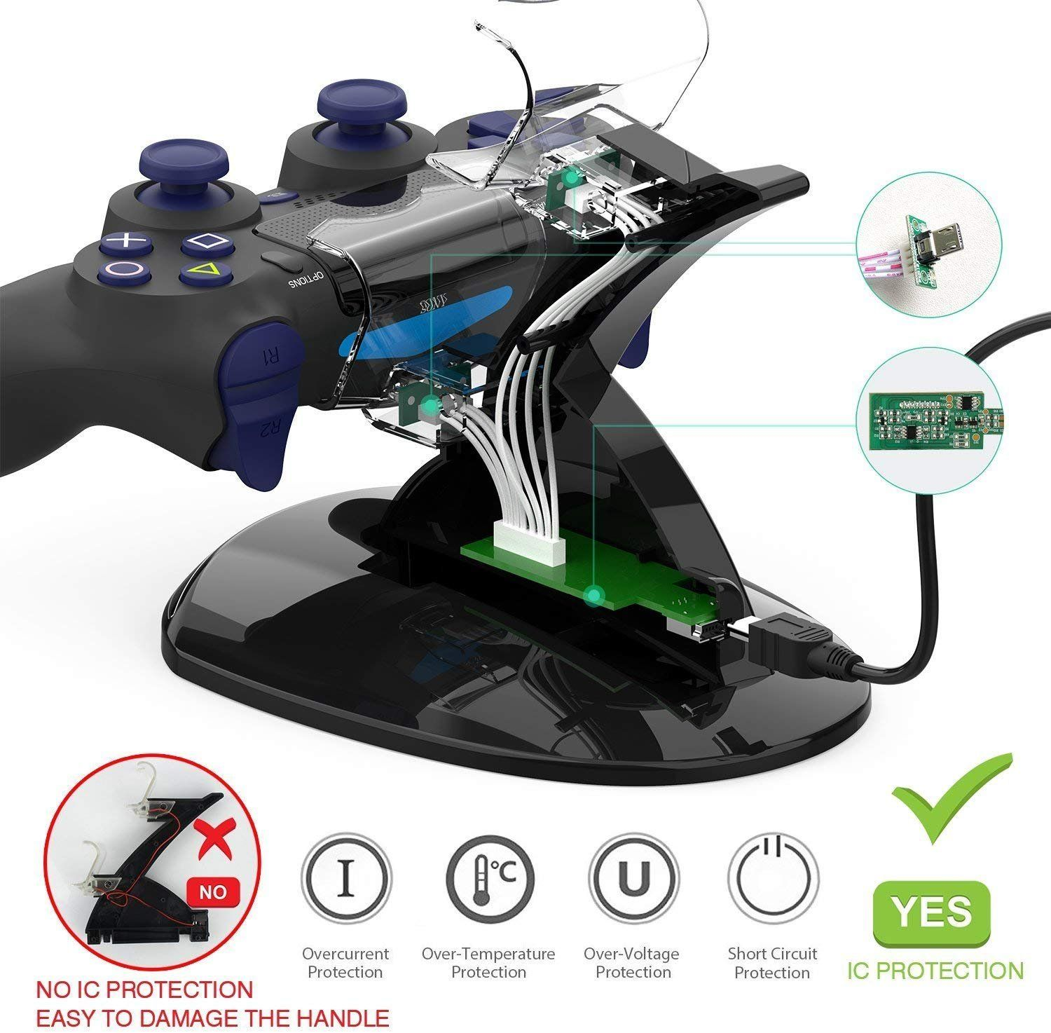 Ps4 Controller Charger Y Team Playstation 4 Ps4 Ps4 Pro Ps4 Slim Controller Charger Chargi Ps4 Controller Charger Ps4 Controller Ps4 Wireless Controller