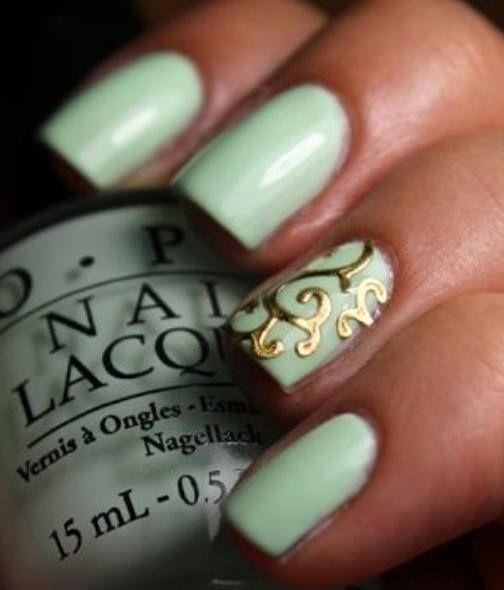 seafoam mint green gold classy