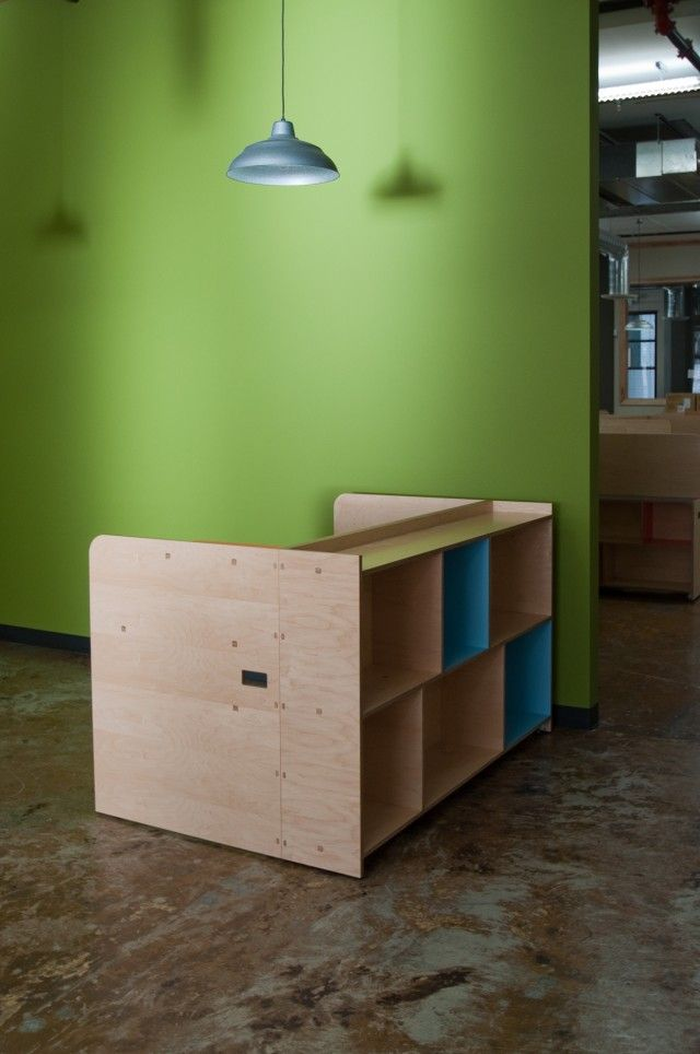 Custom cubicle like workspace furniture for the Taphandles
