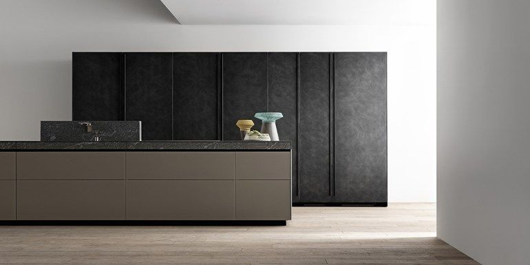 Kitchen With Island Without Handles Genius Loci Kitchen With