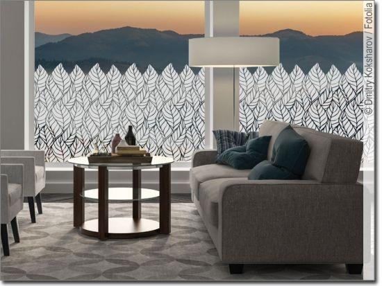 Milchglasfolie Blätter Haus deko, Möbel klebefolie, Folie