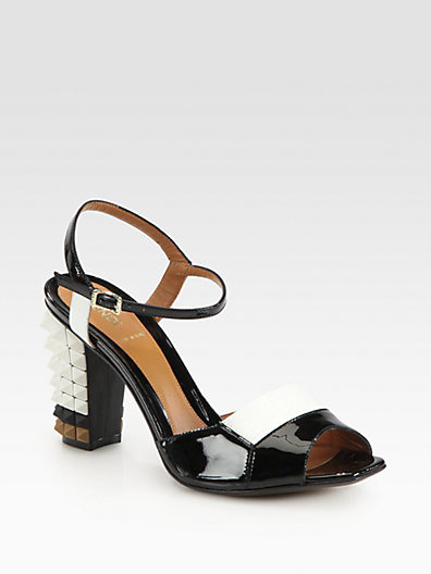 Plifnia Patent Leather Ankle Strap Sandal