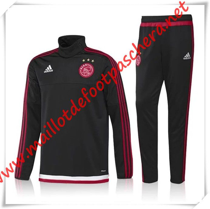 survetement de foot ajax noir 2016 2017 pas cher maillot foot pas cher 2015 2016 2017. Black Bedroom Furniture Sets. Home Design Ideas